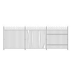prison or military court secure fence realistic vector image