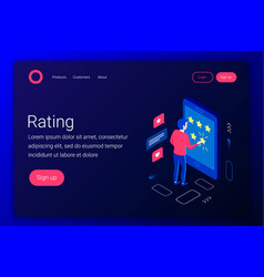 Rating isometric concept vector