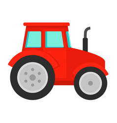 red tractor icon flat style vector image