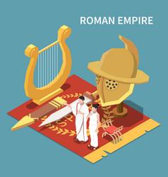 roman empire isometric concept vector image