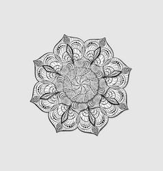 Round black lace napkin decorative multilayer vector