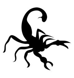 scorpion black vector image