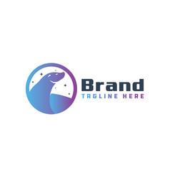 Seal animal logo design vector