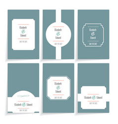 Set of template cards vector