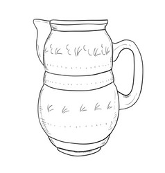 sketch of jug vector image