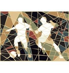 Soccer stars mosaic vector image