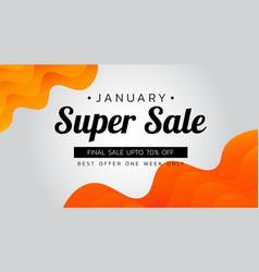 Super sale banner template design vector