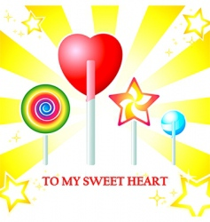 Sweet heart card vector