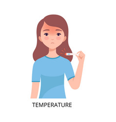Temperature girl suffering from symptom viral vector