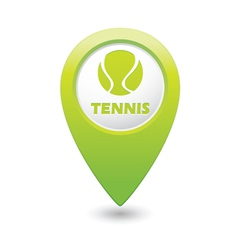 Tennis green map pointer vector