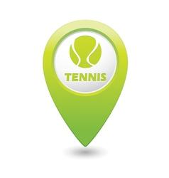 tennis GREEN map pointer vector image