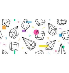 terrarium geometric glass memphis pattern vector image