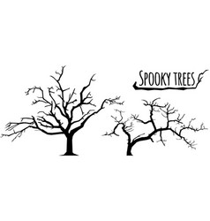 trees silhouettes on the white background vector image