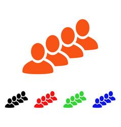 user queue icon vector image