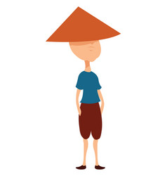 Vietnamese hat on white background vector