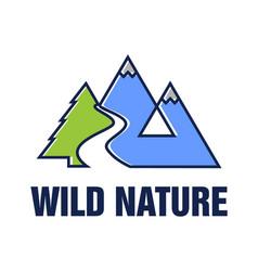 wild nature logo design vector image