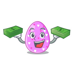 With money eggs easter holiday character for vector