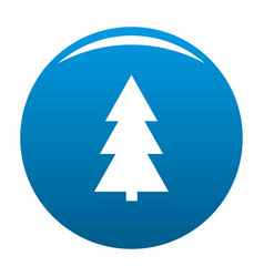 christmas tree icon blue vector image