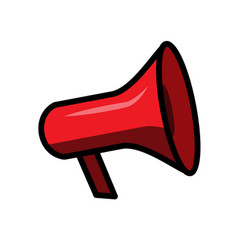 line style megaphone icon isolated on white vector image