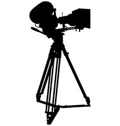 Motion film camera vector image