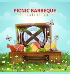 Picnic barbecue vector