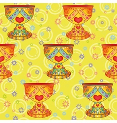 Seamless background Holy Grail vector image vector image