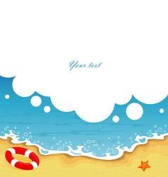 tropic back sea bbl vector image vector image