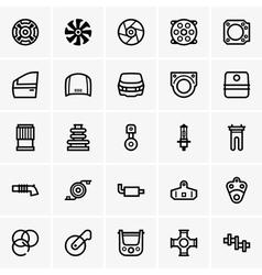 Car parts icons vector image
