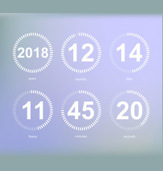 Days hours minutes seconds icon of timer showing vector