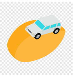 desert car isometric icon vector image vector image