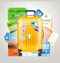 different boarding pass collection and modern vector image