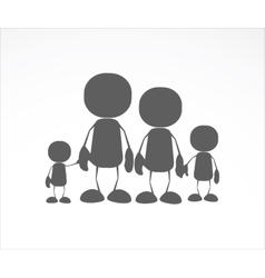Family human icons vector image