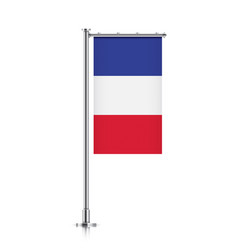 flag of france hanging on a pole vector image