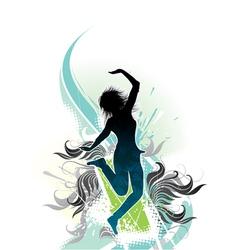girl in dreams vector image