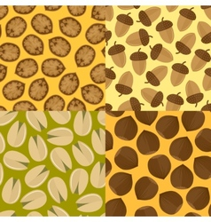 Nuts seamless set vector image vector image
