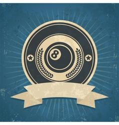 Retro Eight Ball Emblem vector image