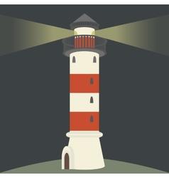 Single lighthouse vector image