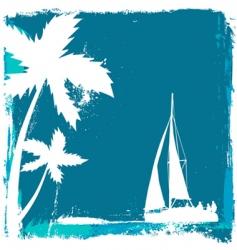 tropical design vector image vector image