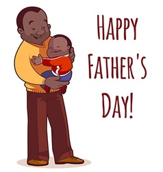 A father holding son in his arms element cards for vector