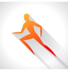 Athletics emblem of abstract stylized running man vector image