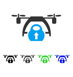 drone loading flat icon vector image vector image