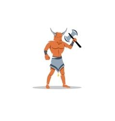 Greek monster Minotaur sign vector image vector image