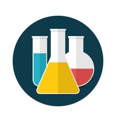 Laboratory glassware vector image