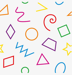 multicolor basic geometrical shapes seamless vector image vector image