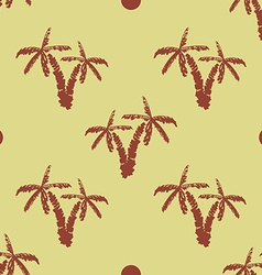 Seamless pattern background with hand drawn palm vector image vector image