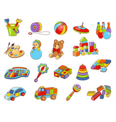 toy icon collection - color vector image vector image