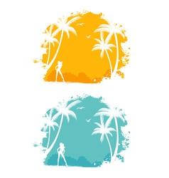 tropic back set vector image vector image