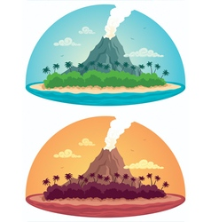 Tropical Island on White vector image vector image