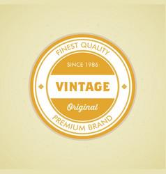 colorful vintage hipster logo design template vector image vector image