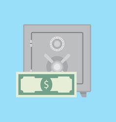 deposit safe vector image vector image